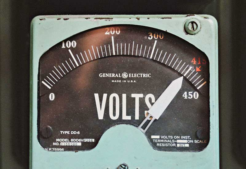 Watt = Volts * Amps