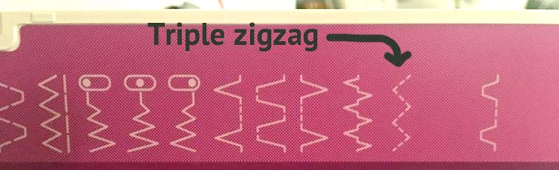 The triple zigzag is the strongest stitch for stretchy fabric