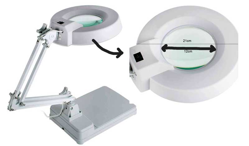 magnifying lamp for sewing