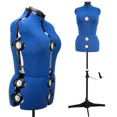 Adjustable mannequin for sewing
