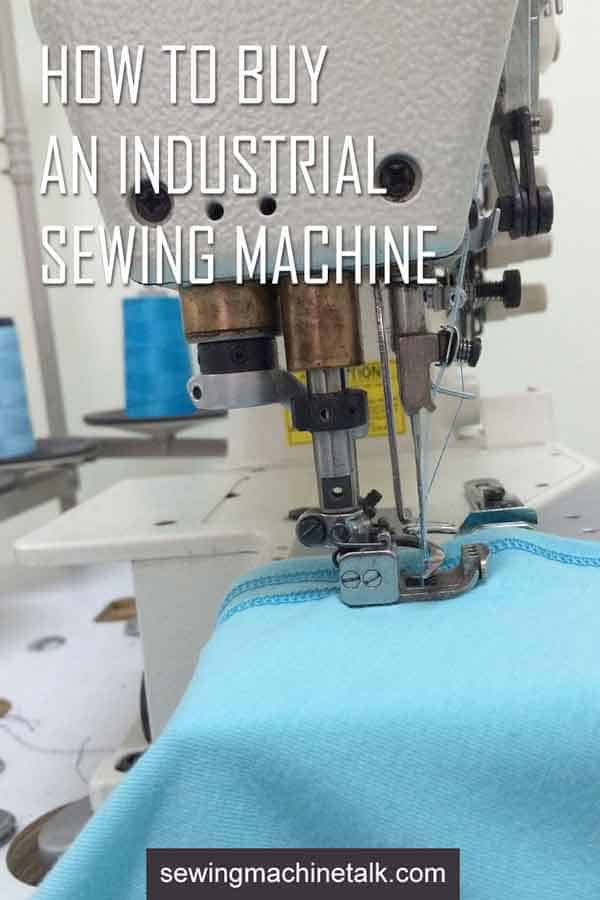 how to buy an industrial sewing machine