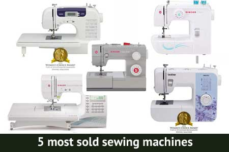 5 most sold sewing machines