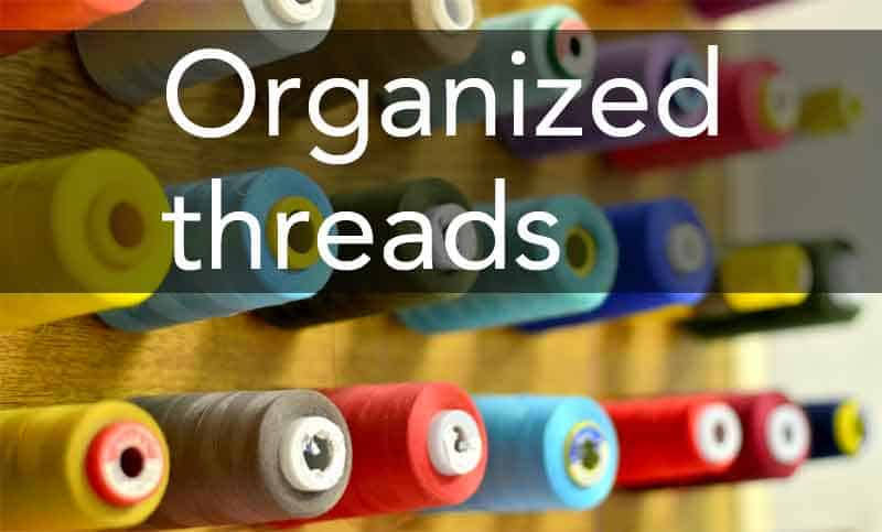 well-organized sewing threads